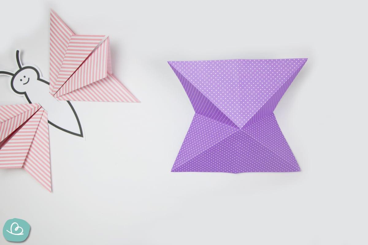 Origami Faltanleitung Schmetterling