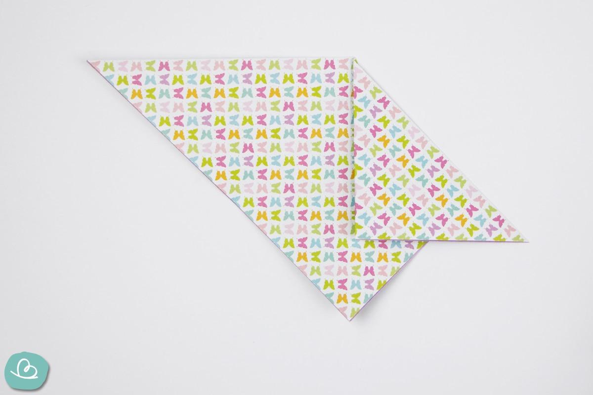 Faltung im Origamipapier