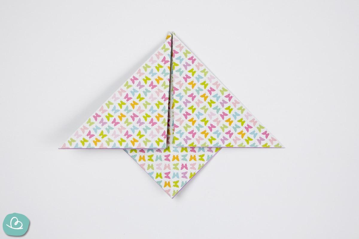 gefaltetes Origamipapier
