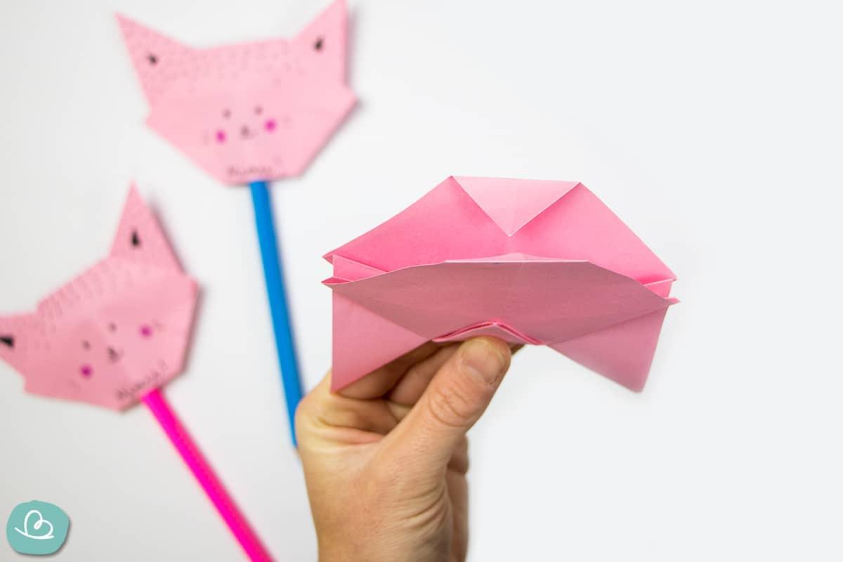 Katze aus Papier falten