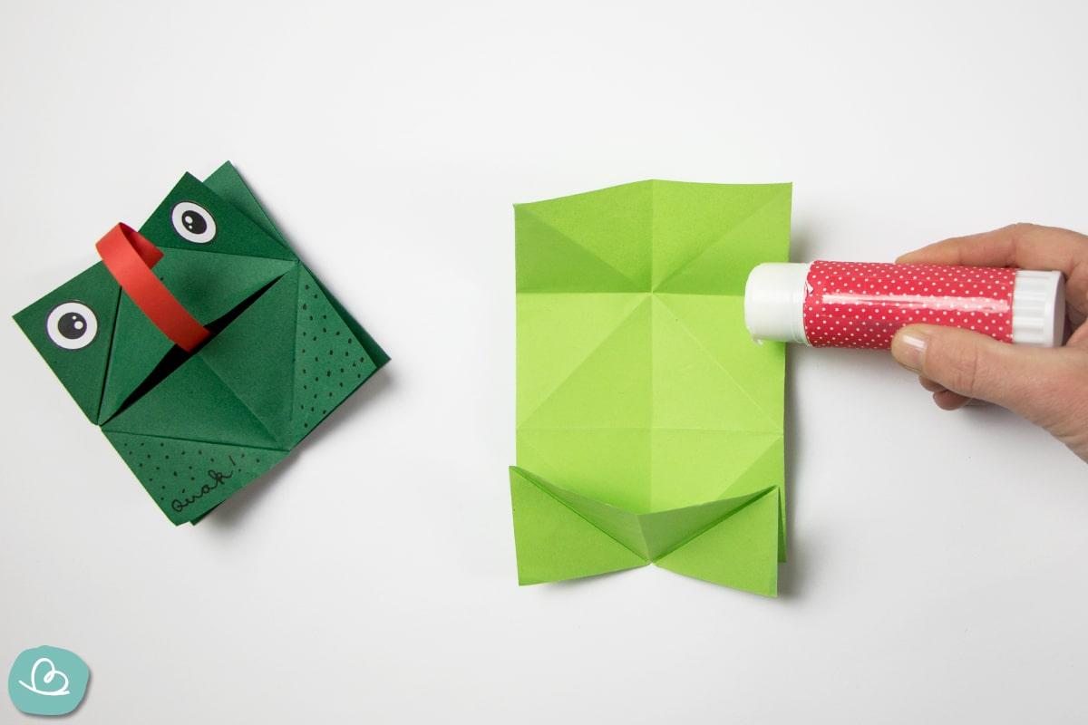 Papier einleimen