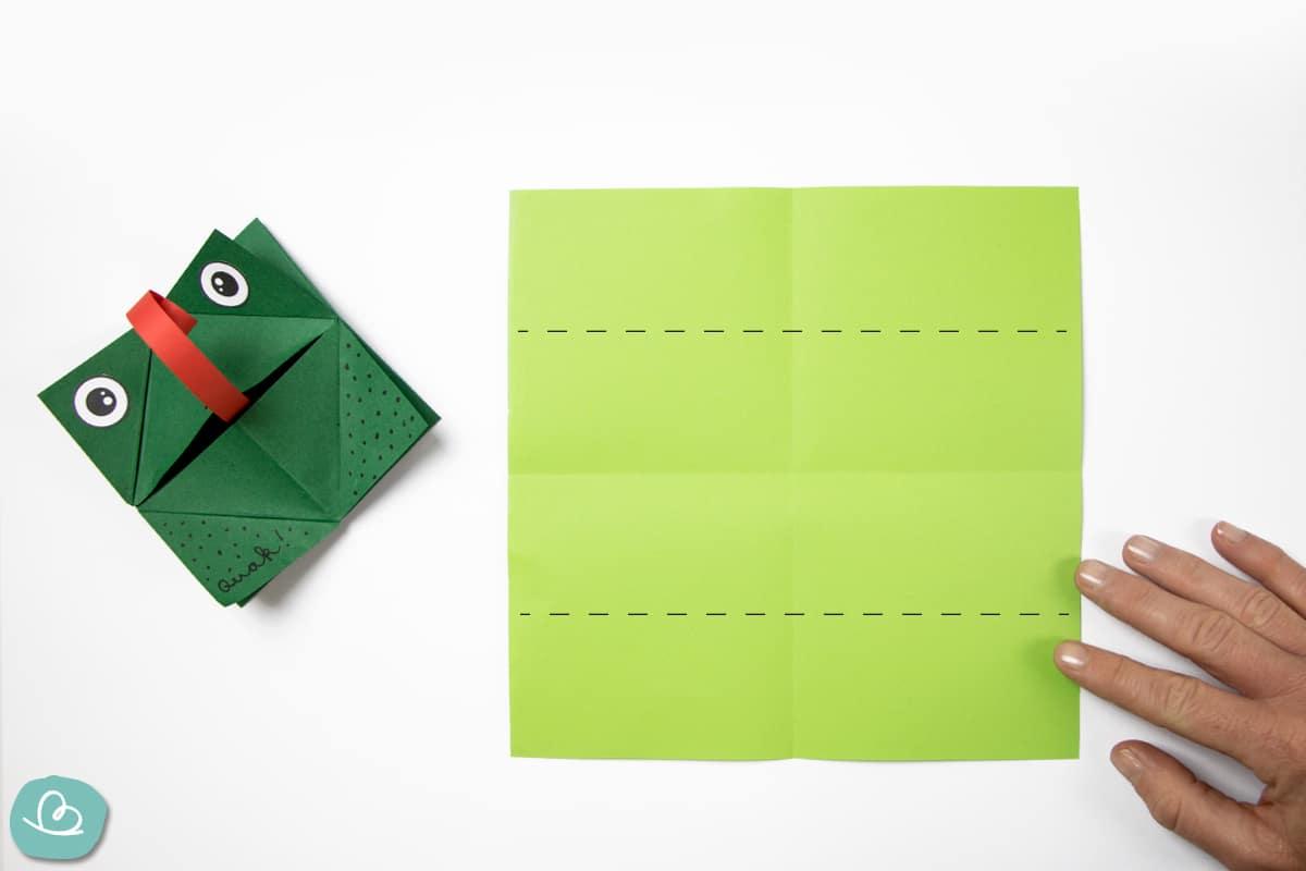 Markierung auf grünen Papier