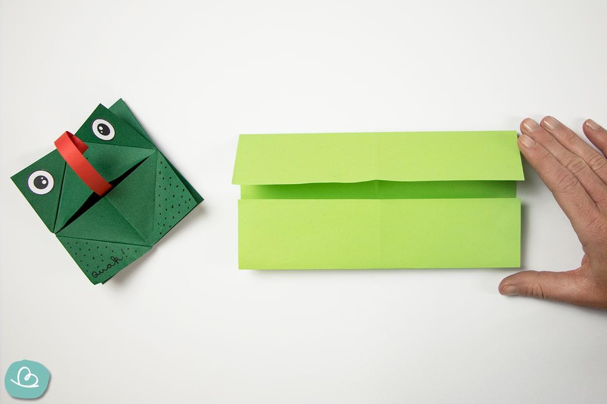 Origami Frosch Faltanleitung