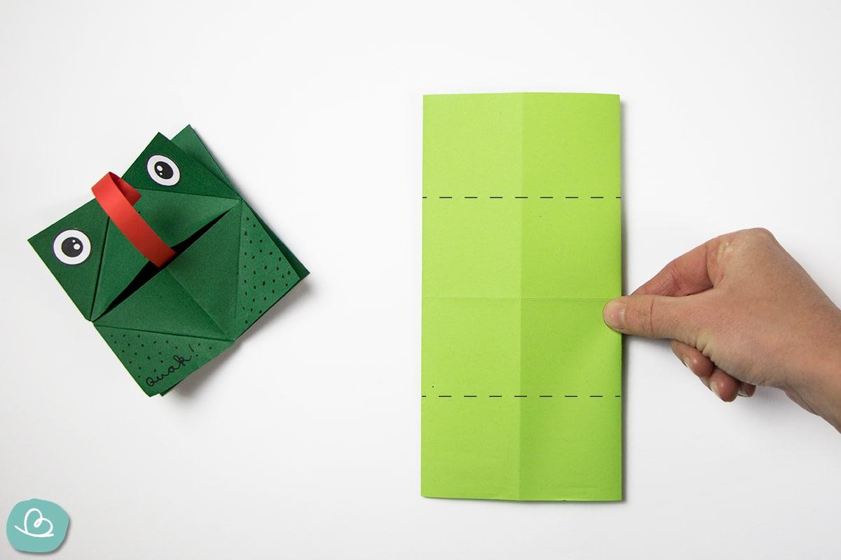 Faltmarkierung auf Papier