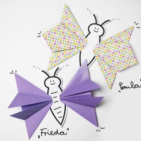 Origami-Schmetterling falten: Anleitung für Kinder