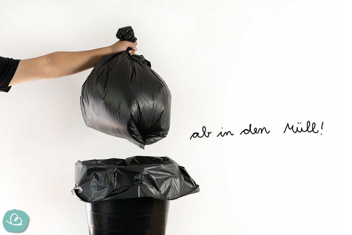 schwarzer Müllbeutel