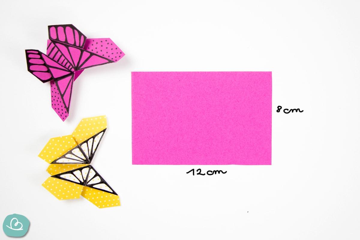 Origamipapier Maßangabe