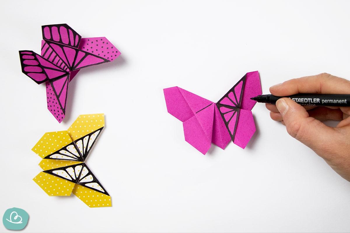 Schmetterling Flügel anmalen