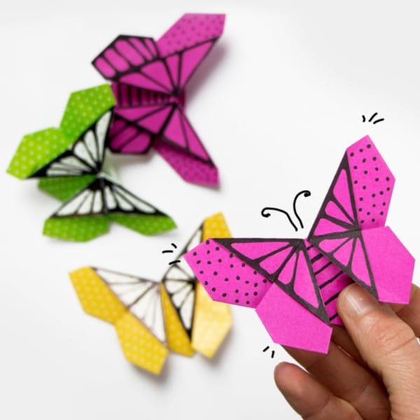 Schmetterling aus Papier falten: Anleitung mit Video