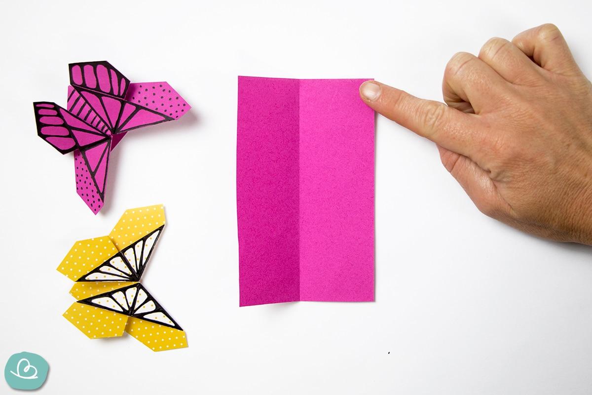 Faltanleitung Schmetterling aus Papier