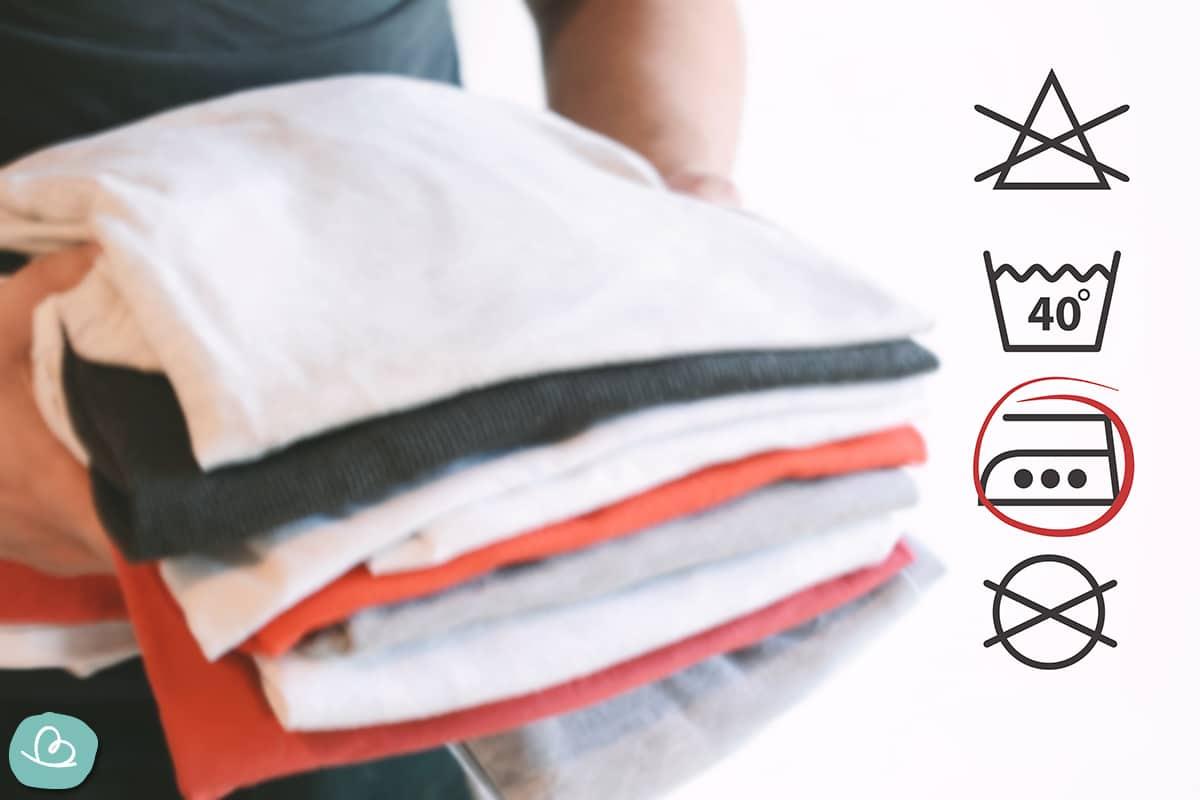 Bügeleisentemperatur Waschetikett prüfen
