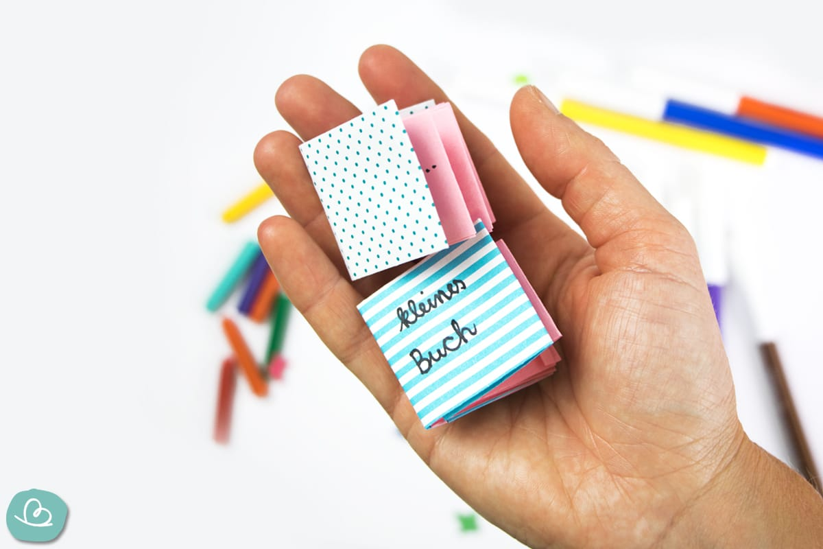 Minibuch basteln aus Papier