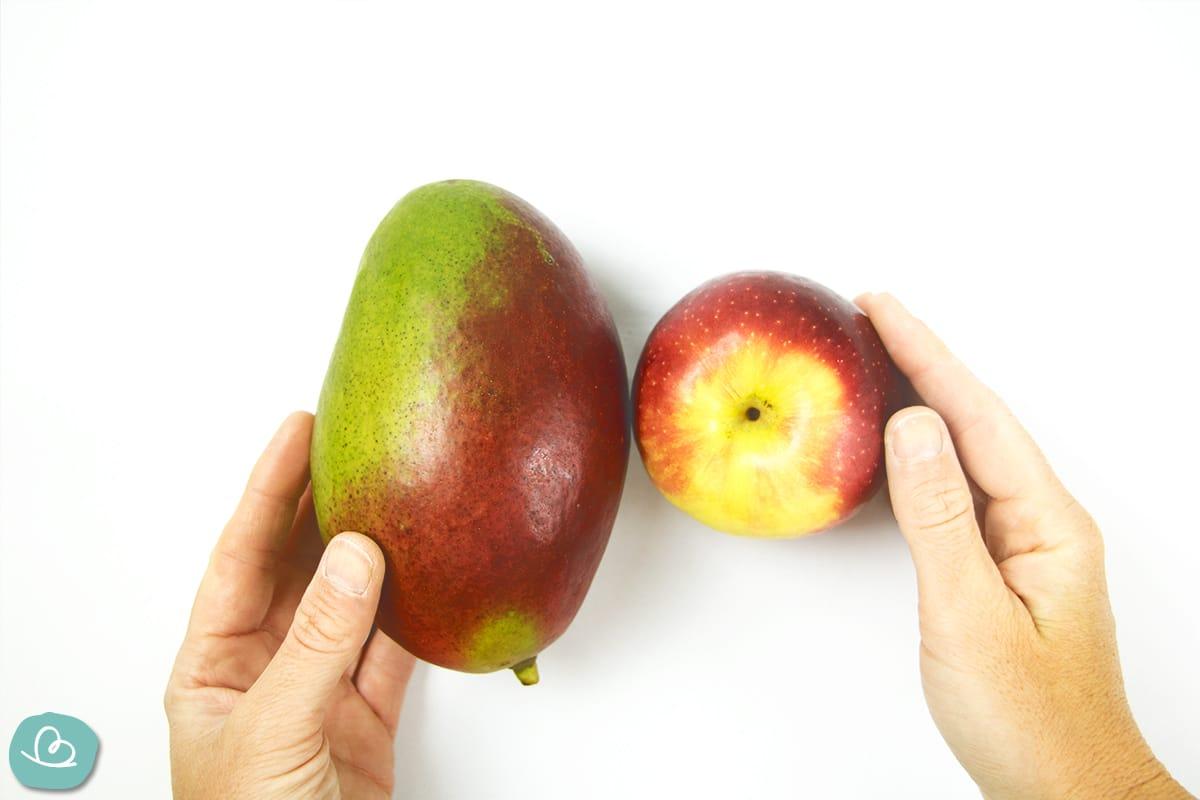 Mango und Apfel Ethen Methode