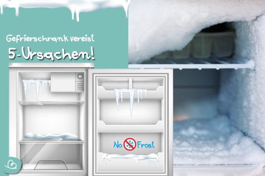 No-Frost Gefrierschrank vereist: 5 häufige Ursachen