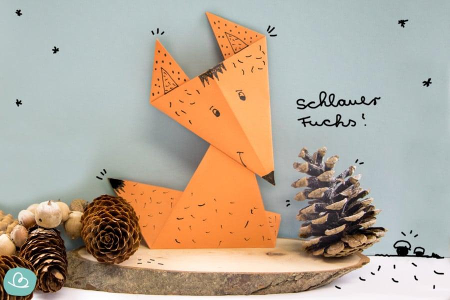 Origami Fuchs | einfache Anleitung + PDF Vorlage