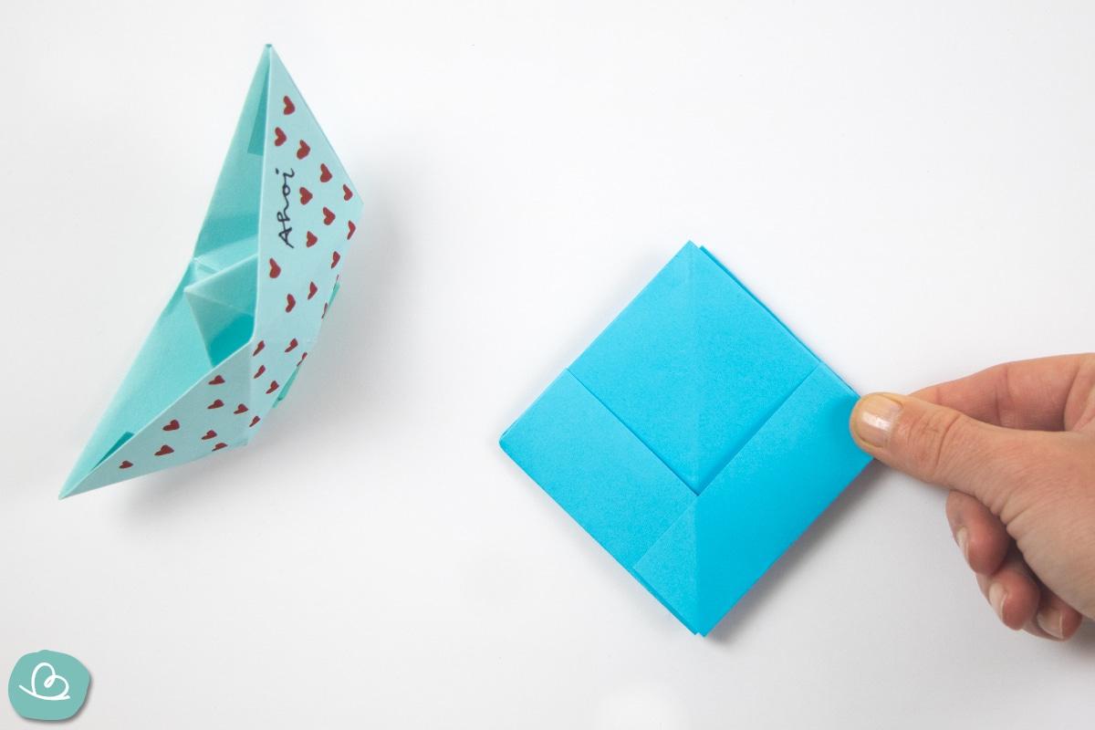 mit Papier falten