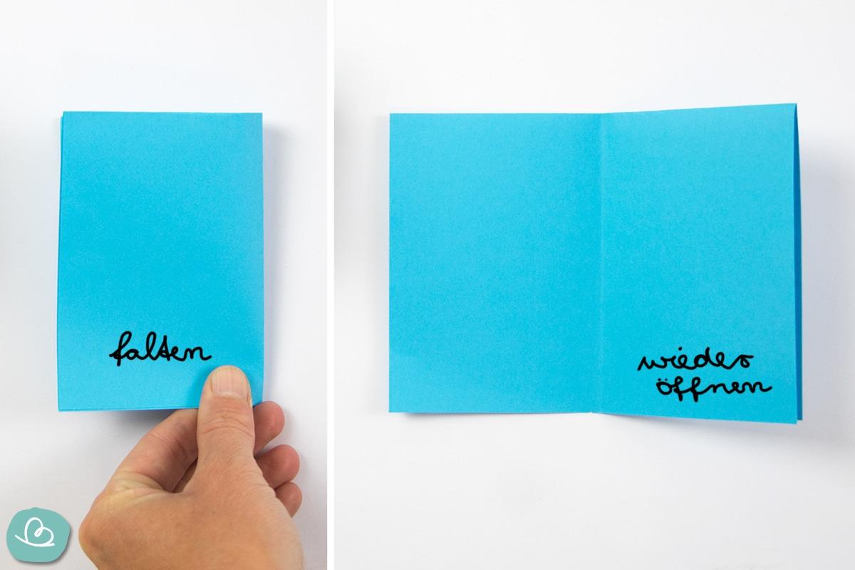 Papier falten und öffnen