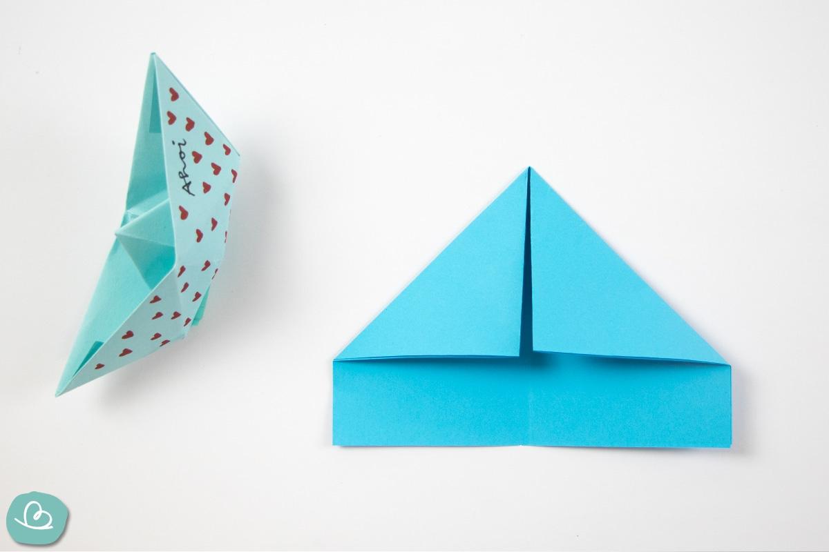 spitze Ecken aus Papier