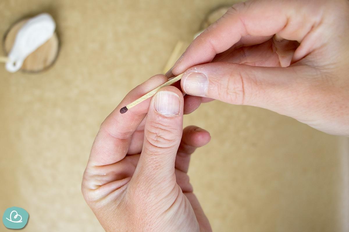 Streichholz-Bastelmaterial für Salzteig