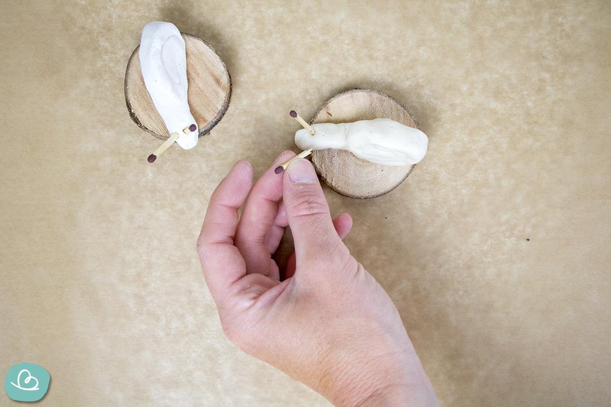 Basteln mit Salzteig im Herbst-Schnecke basteln