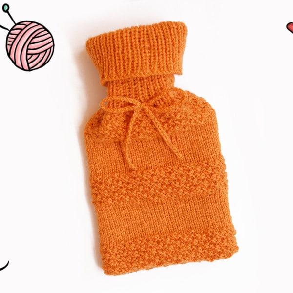 Wärmflaschenbezug stricken DIY Wärmflaschenhülle