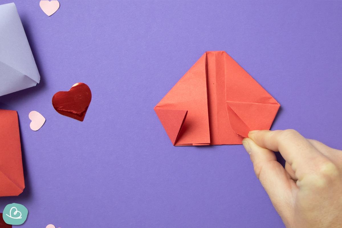 3-D Herz falten Faltanleitung