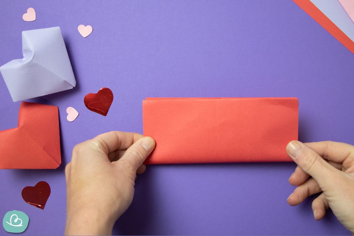 Papier falten Schritt für Schritt Anleitung