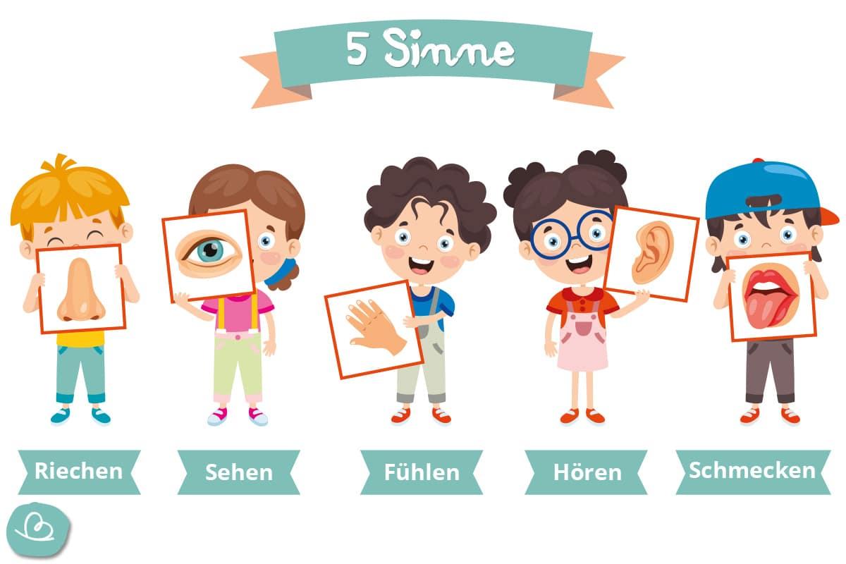 5 Sinne Aufgaben zur Schatzsuche