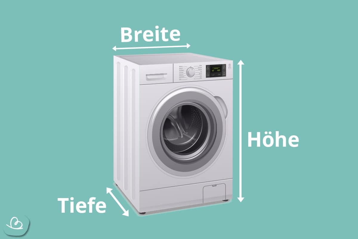 Waschmaschinemaße im Detail
