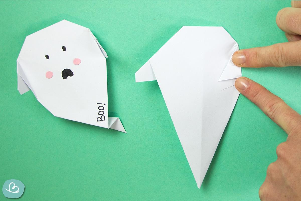 Papier knicken, falten, basteln. Halloween Origami
