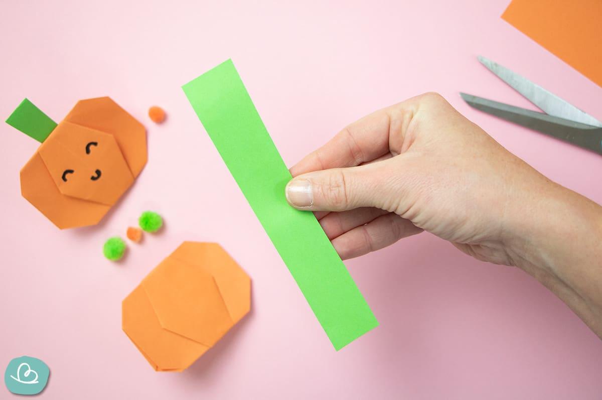 grüner Papierstreifen Halloween Deko