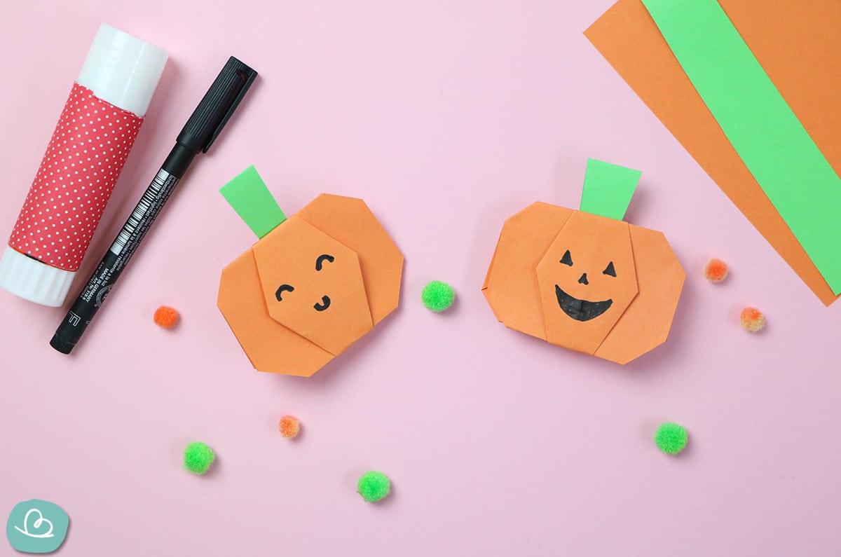 Halloween Origami Kürbis