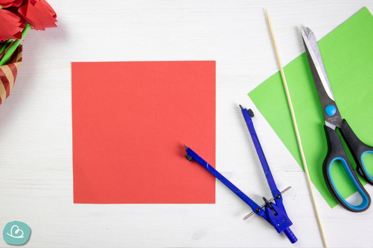 Origami Papier und Bastelmaterialien