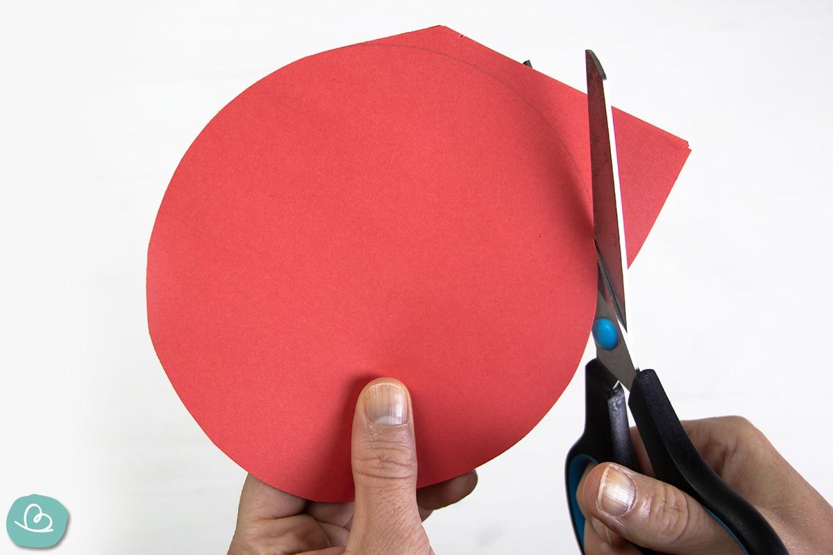 Papierkreis schneiden