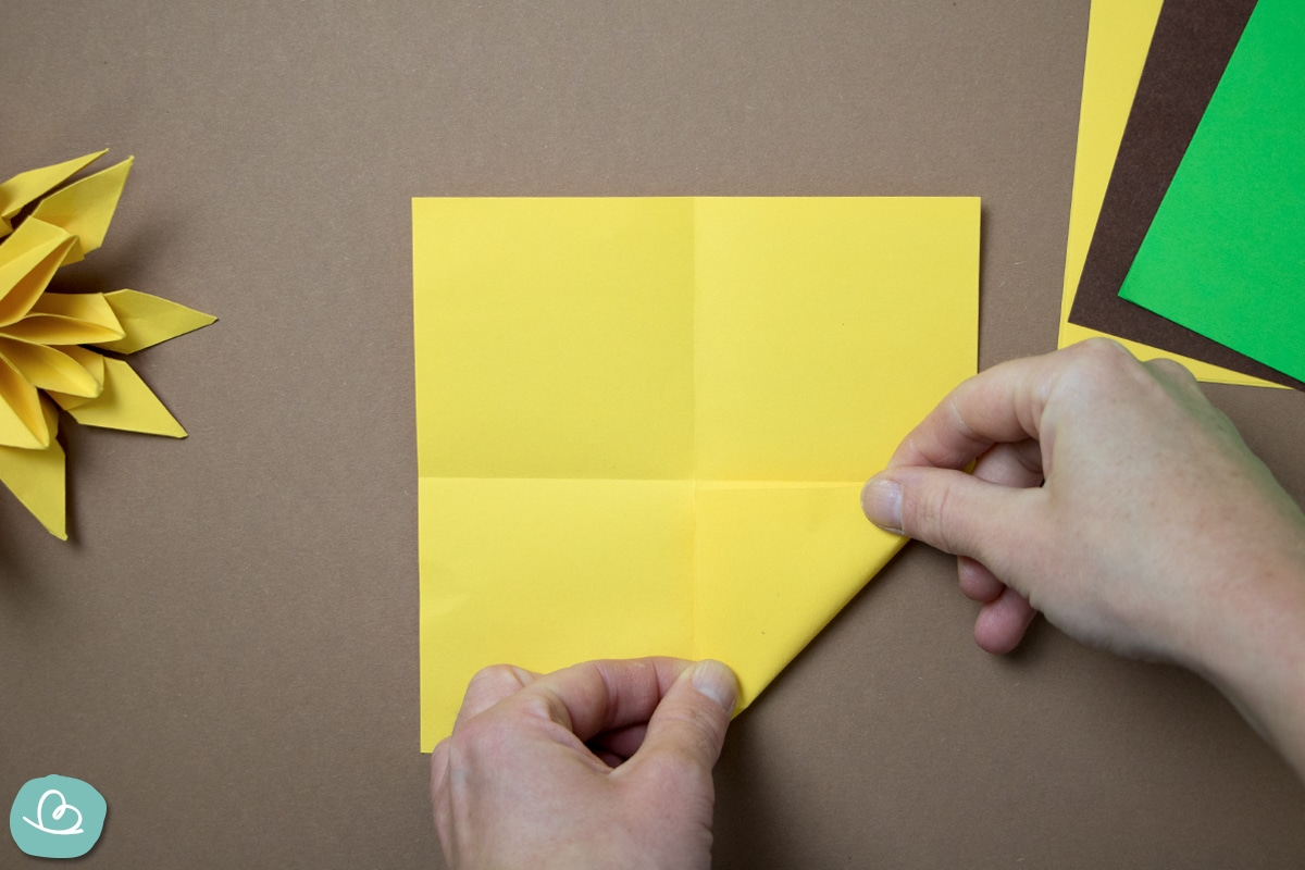 Origami Sonnenblume Faltanleitung