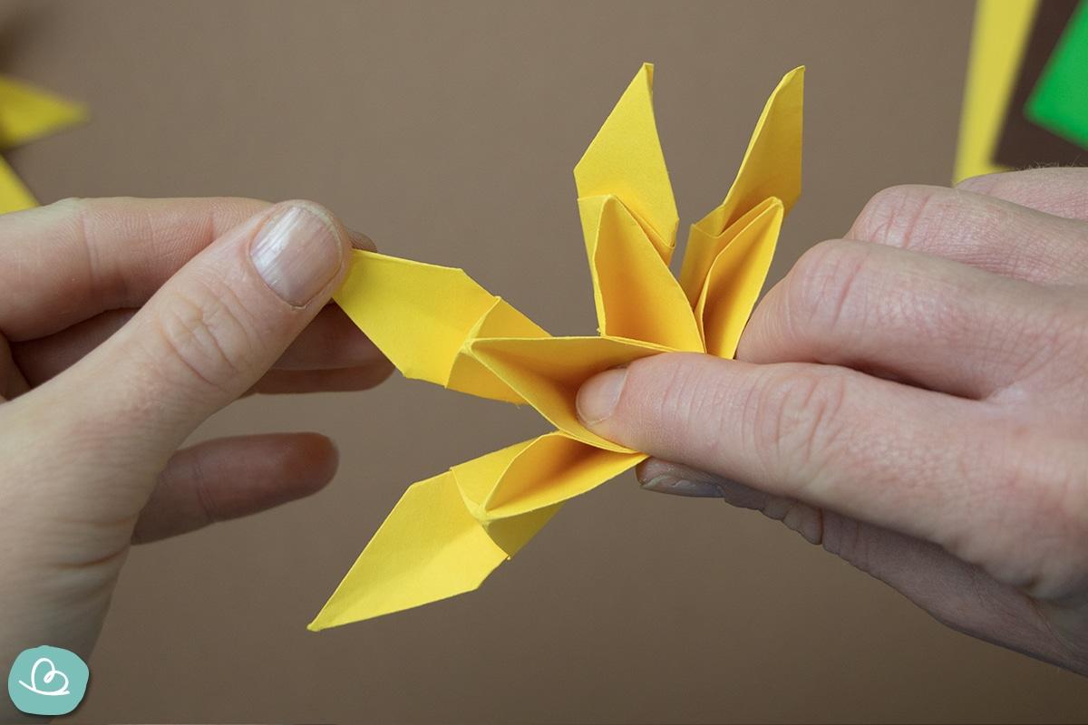 Papier auffächern und formen