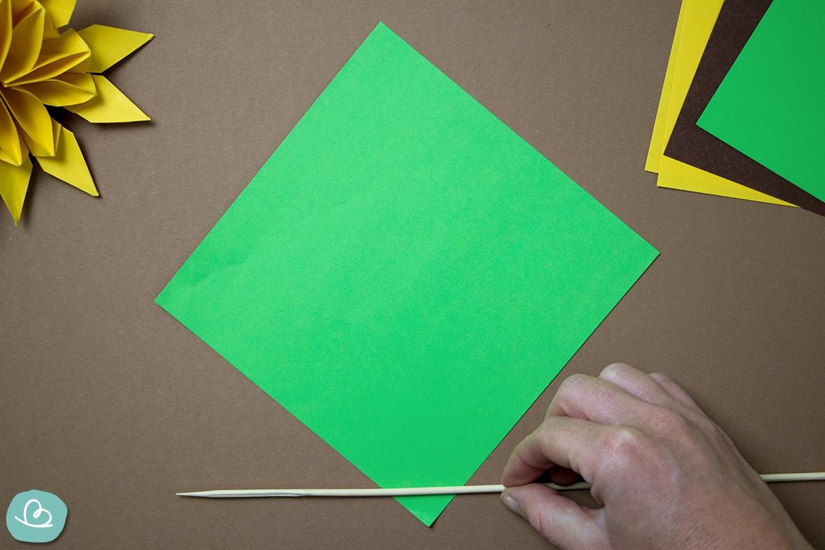 Papier aufrollen