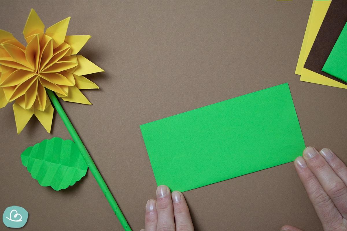 Origami Papier in Längsrichtung