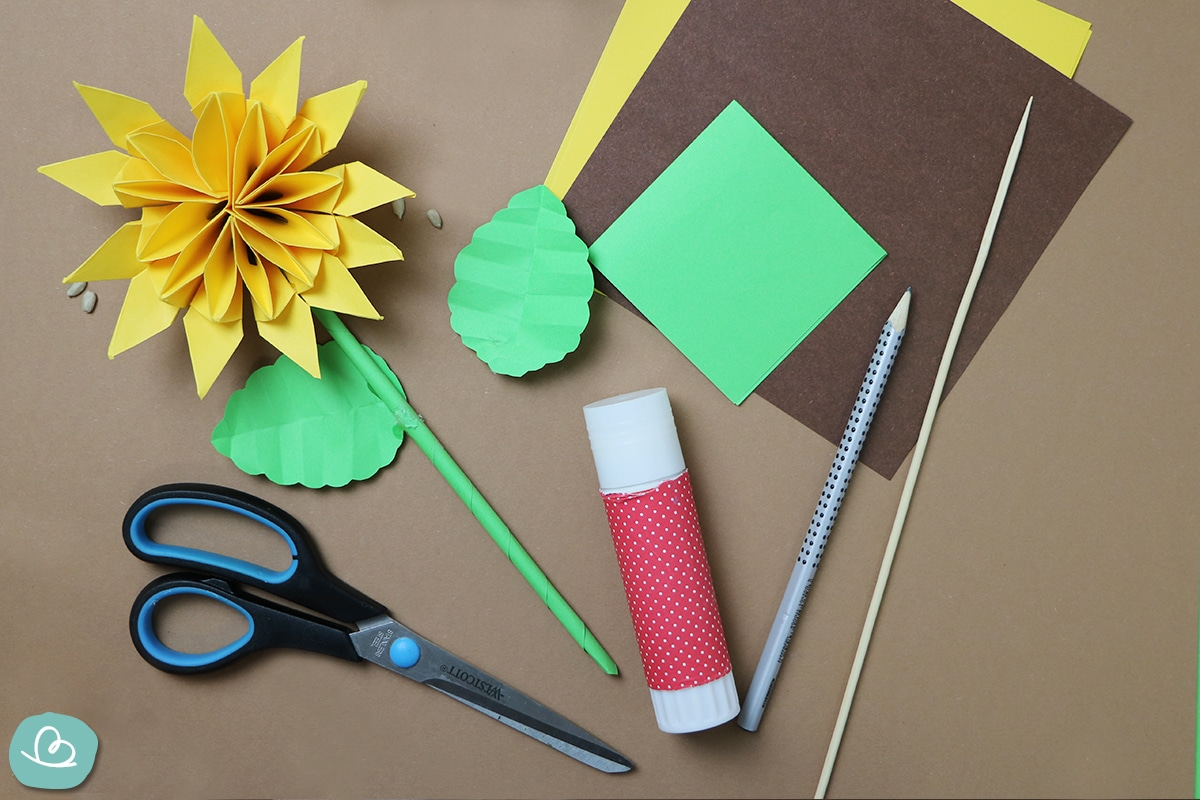 Sonneblume basteln-Materialien