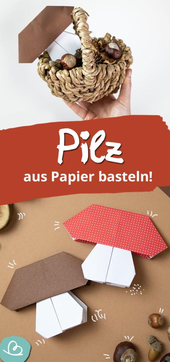 Pilz aus Papier basteln Pinterest