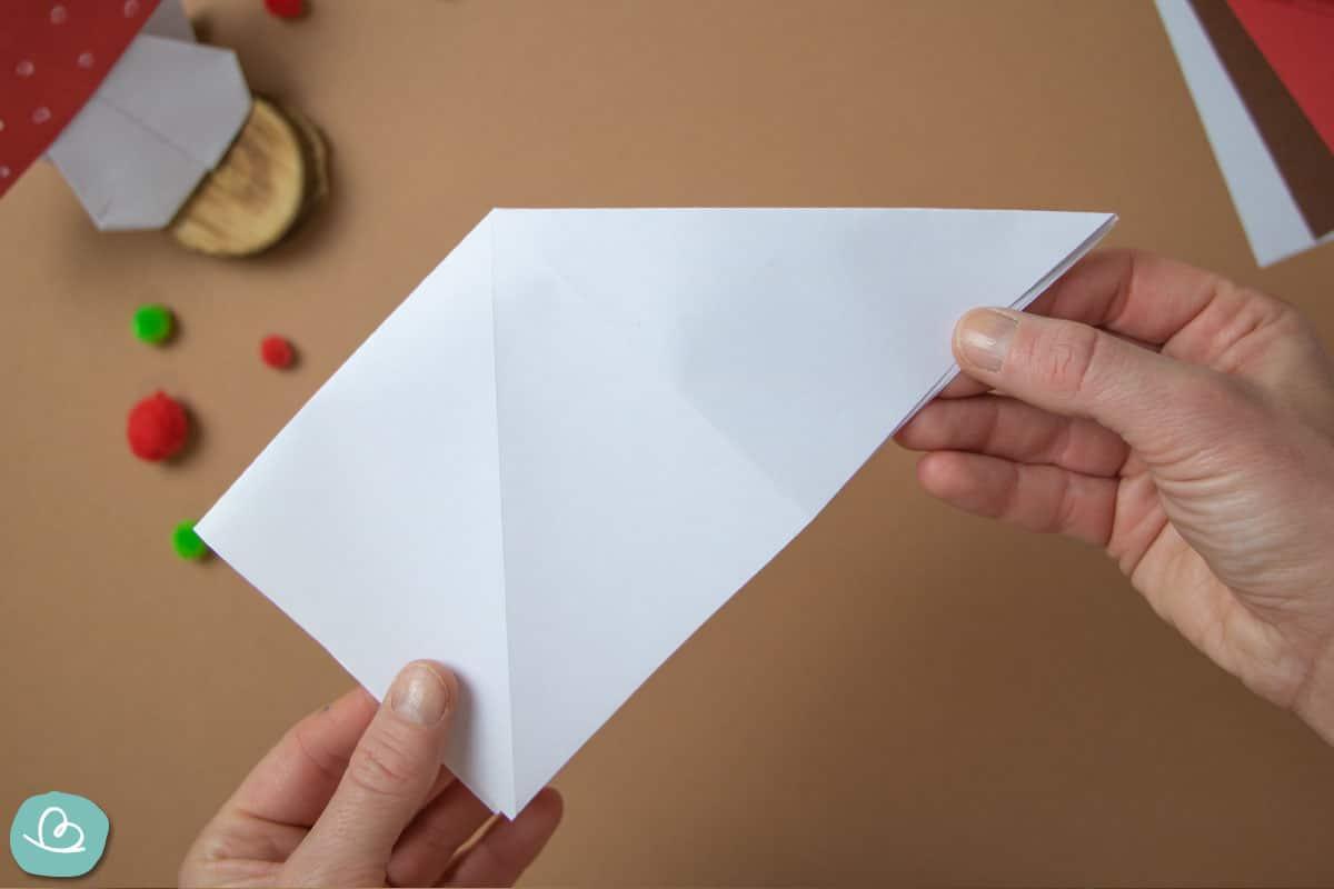 Faltanleitung Pilz aus Papier basteln