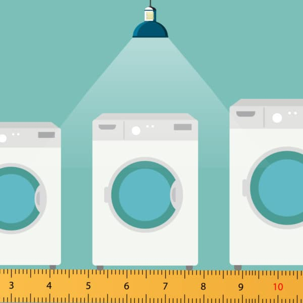 typische Waschmaschinen Maße