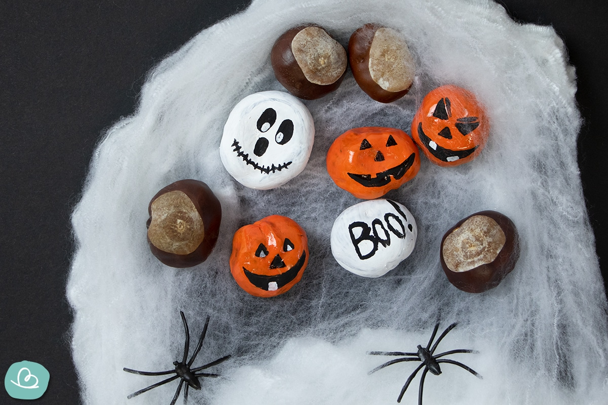 Mit Kastanien basteln Halloween