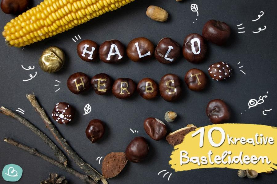 Basteln mit Kastanien | 10 originelle Bastelideen