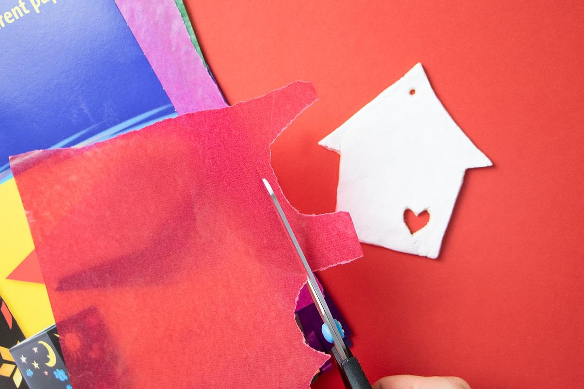 Transparentpapier schneiden
