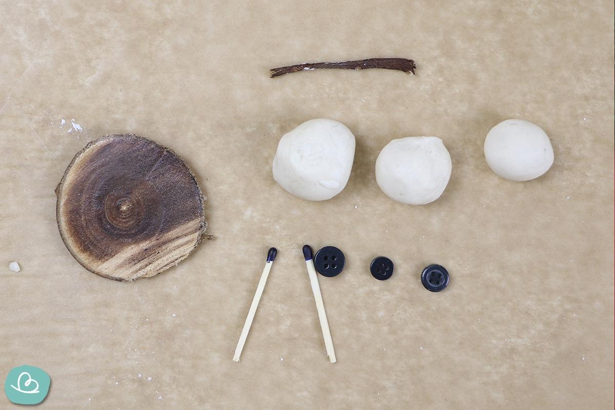 Materialien Schneemann basteln