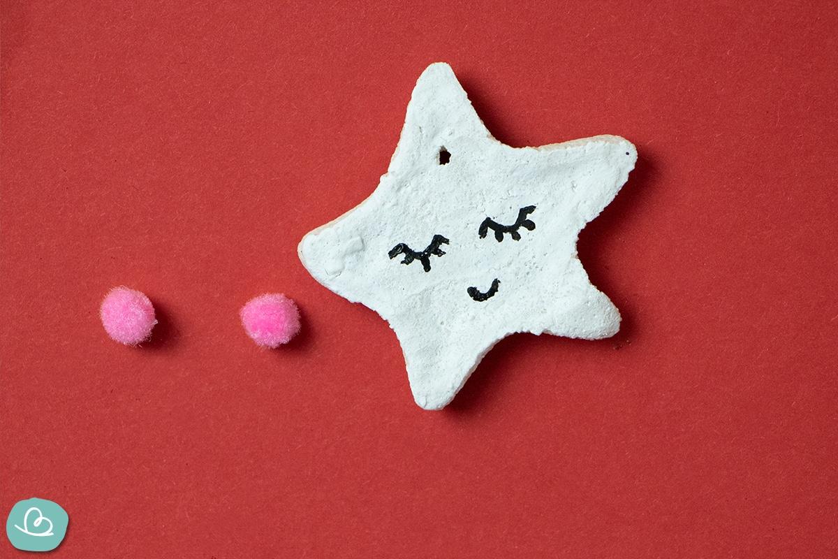 Salzteig Stern Gesicht