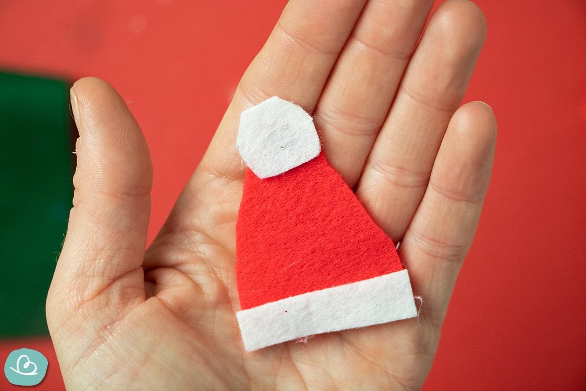 Weihnachtsmannmütze aus Filz