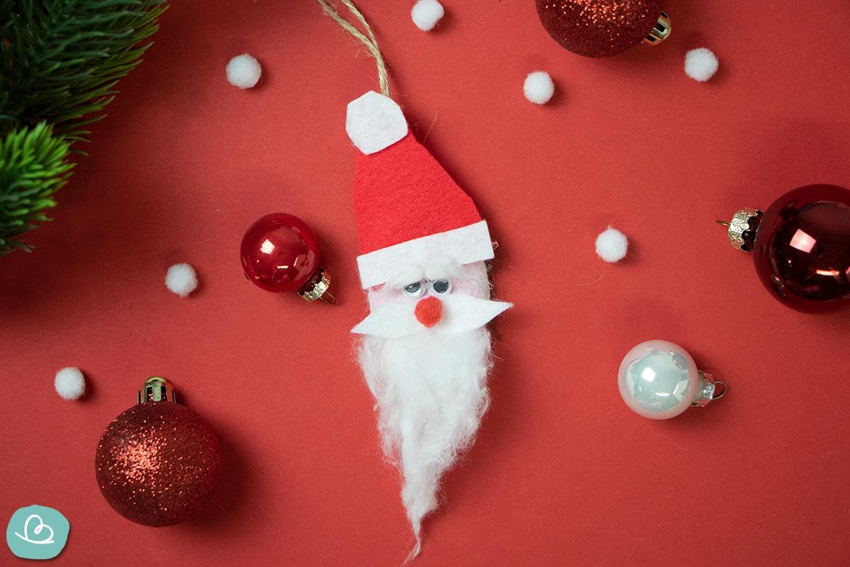Basteln mit Salzteig Weihnachtsmann