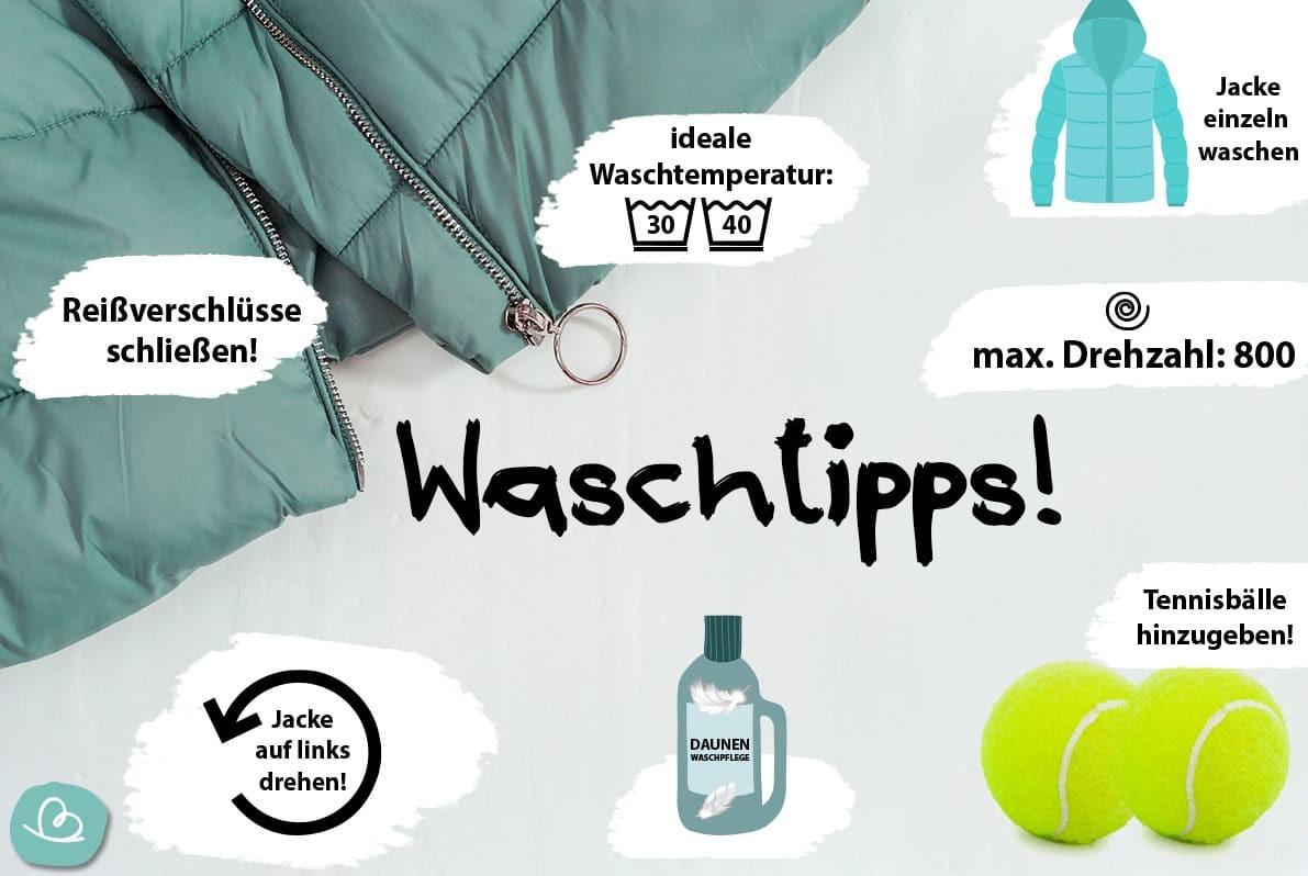 Daunenjacke Waschtipps